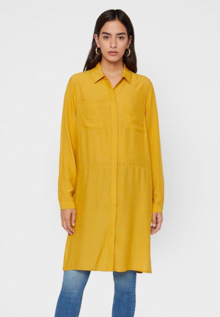 Pieces Abito a camicia - giallo arrowwood