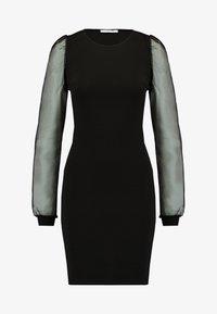 Pieces - PCMADELENA ORGANZA DRESS - Pouzdrové šaty - black - 5