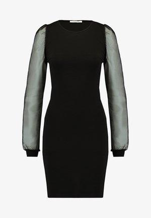 PCMADELENA ORGANZA DRESS - Fodralklänning - black