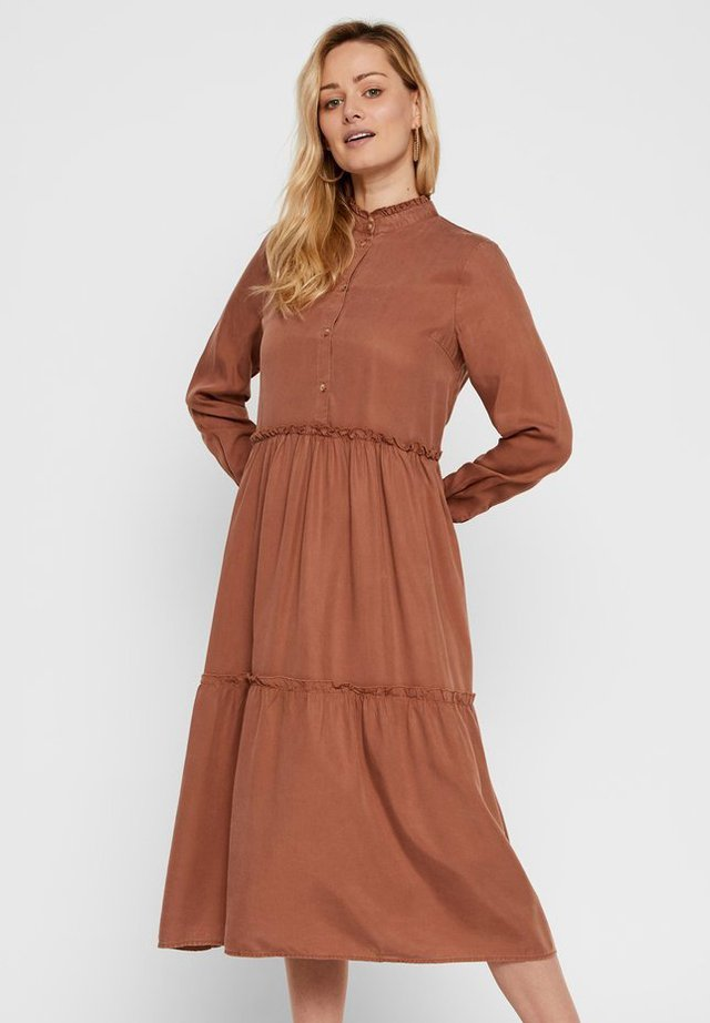 Shirt dress - mocha bisque