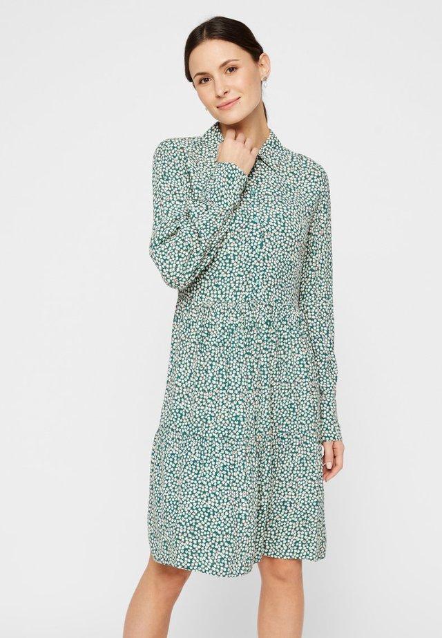 Shirt dress - deep lichen green