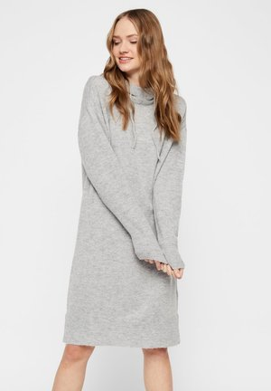 STRICK - Jumper dress - light grey melange