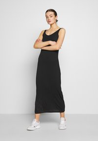 Pieces - MAXI TANK DRESS - Maxi-jurk - black - 0