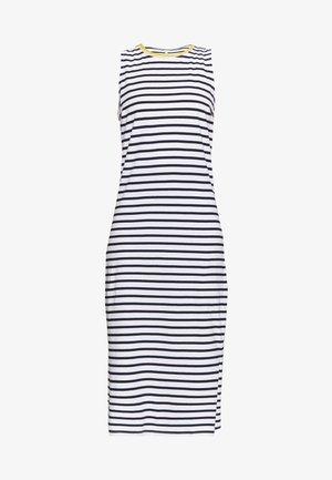 PCKIDI MIDI TANK DRESS - Jersey dress - bright white/maritime blue