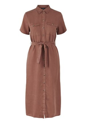 PCNOLA  - Shirt dress - copper brown