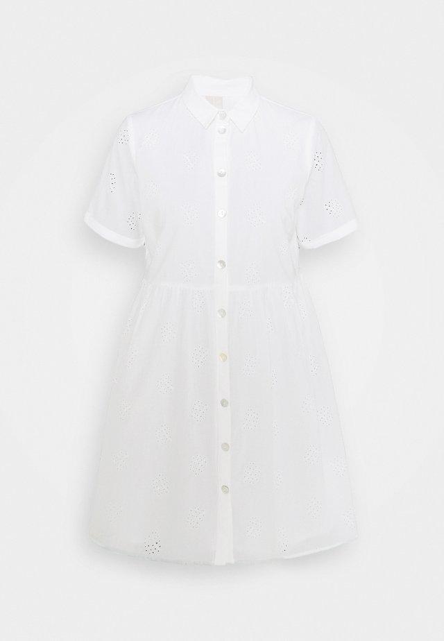 PCALAYA DRESS  - Shirt dress - white