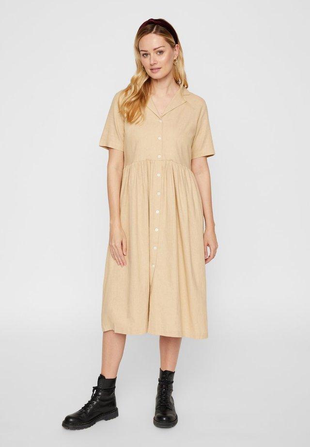 Shirt dress - warm sand