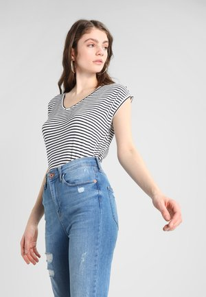PCBILLO NEW TEE - T-shirts med print - bright white/maritime blue