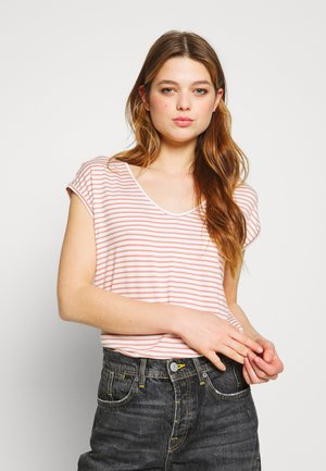PCBILLO NEW TEE - Print T-shirt - bright white/cameo brown