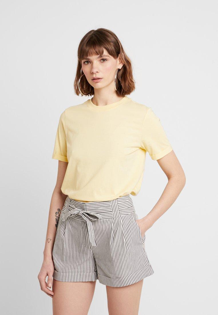 Pieces - PCRIA  - T-Shirt basic - mellow yellow