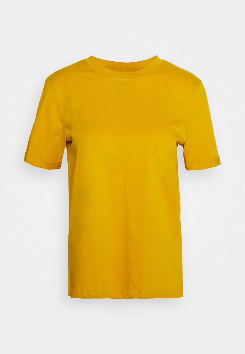 Pieces - PCRIA FOLD UP TEE - T-shirt basic - nugget gold