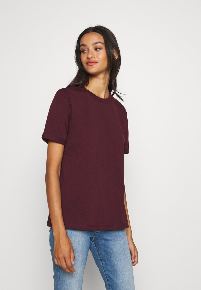 Pieces - PCRIA FOLD UP SOLID TEE - T-shirt basic - port royale