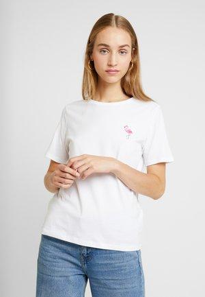 PCVALENTINE TEE - T-Shirt print - bright white