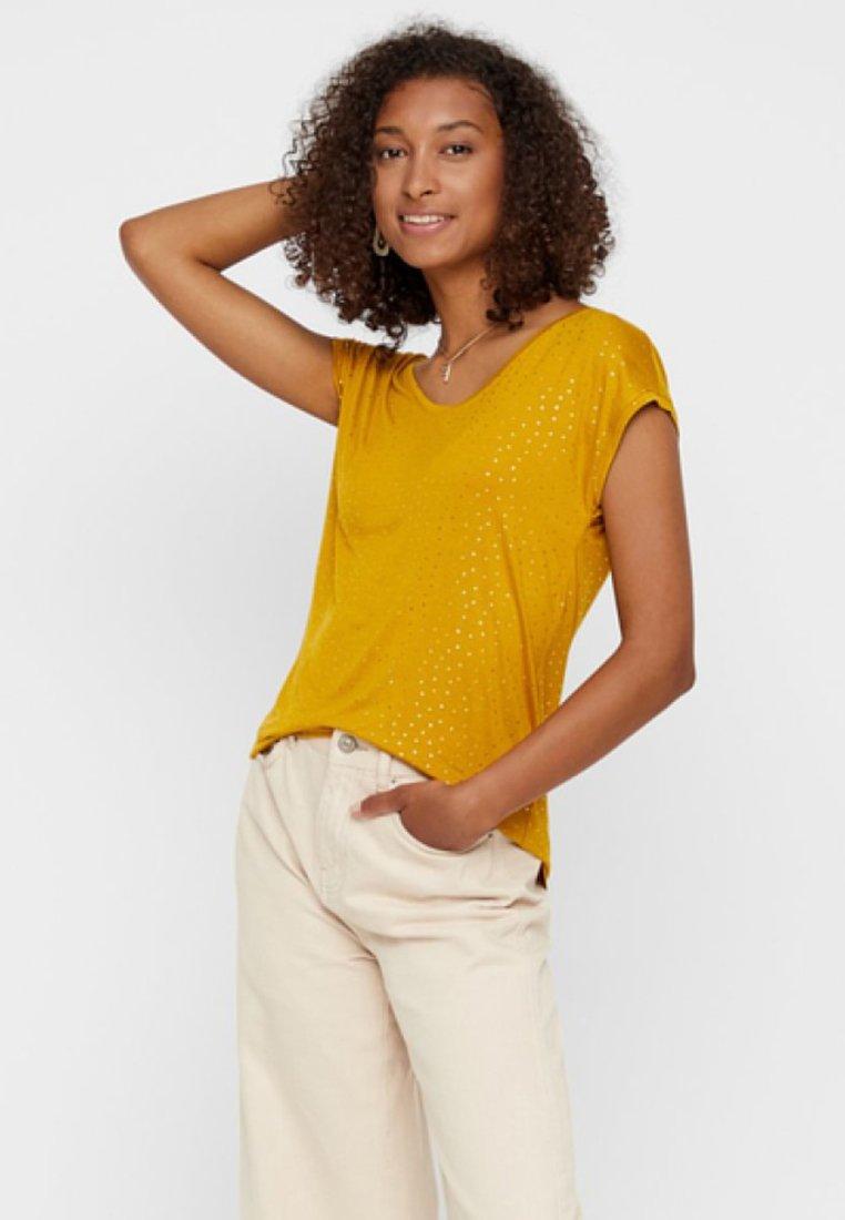 Pieces - T-Shirt print - yellow