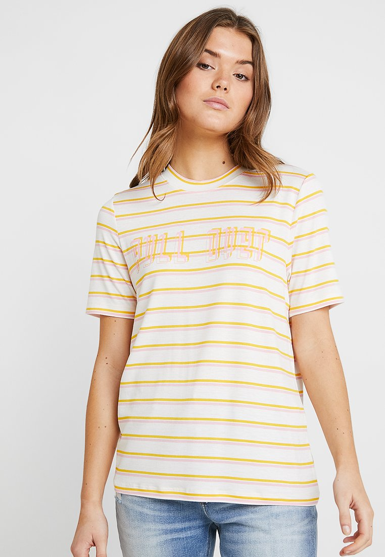 Pieces - PCBREA TEE - T-Shirt print - bright white