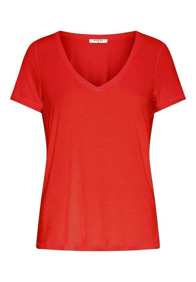 T-SHIRT MONOCHROMES - T-shirt basic - grenadine