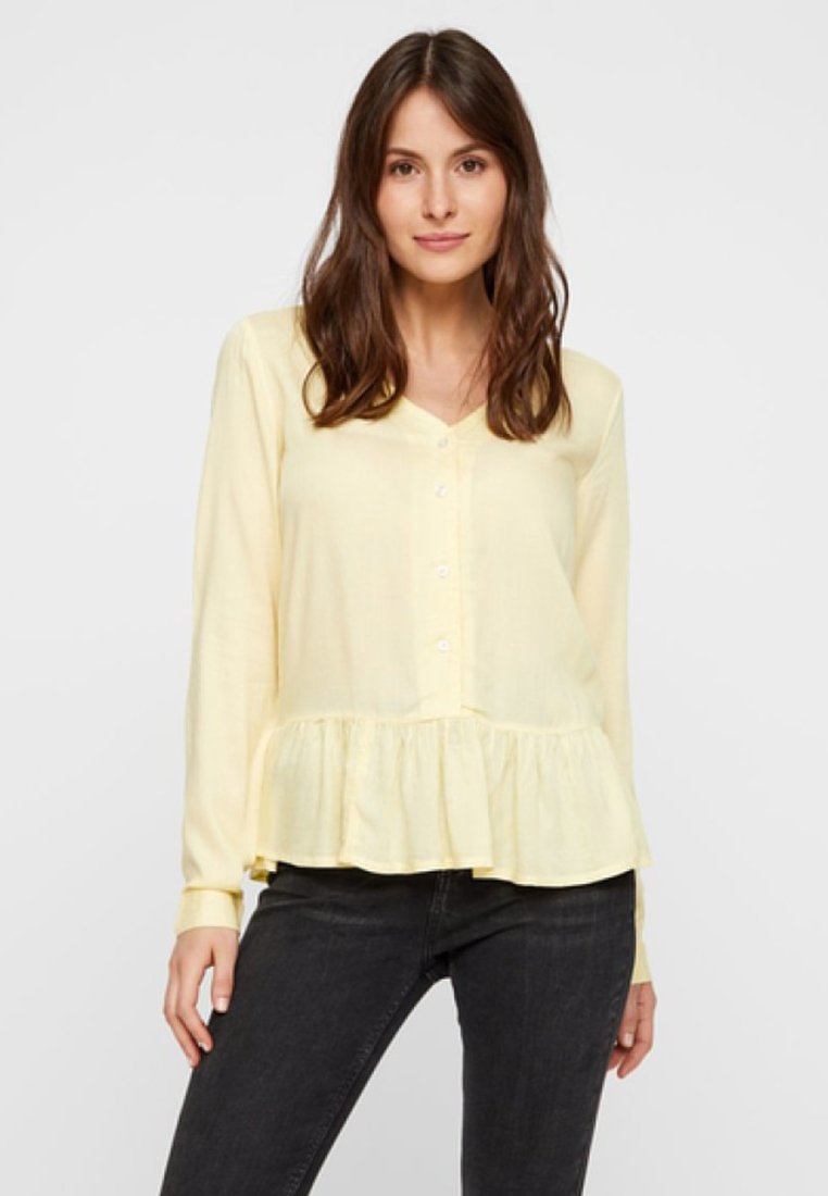 Pieces - Bluse - mellow yellow