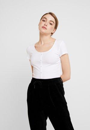 PCELENA - Print T-shirt - bright white