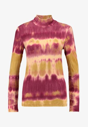 PCCALINA TIE DYE - Long sleeved top - red/yellow