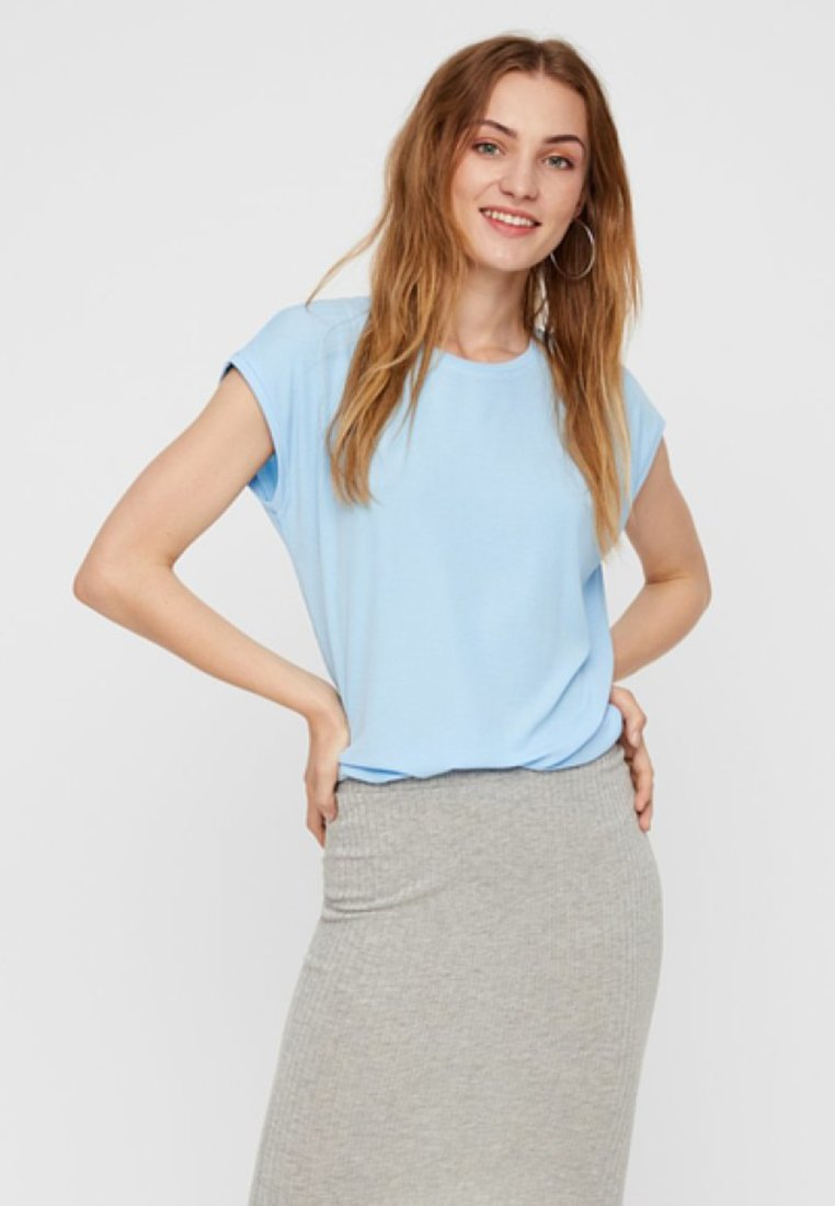 Pieces - T-Shirt basic - airy blue