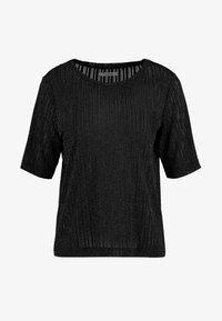 Pieces - T-shirt con stampa - black/silver - 3