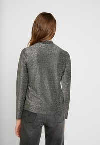 Pieces - Long sleeved top - black/silver - 2