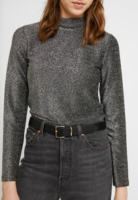 Pieces - Long sleeved top - black/silver - 5