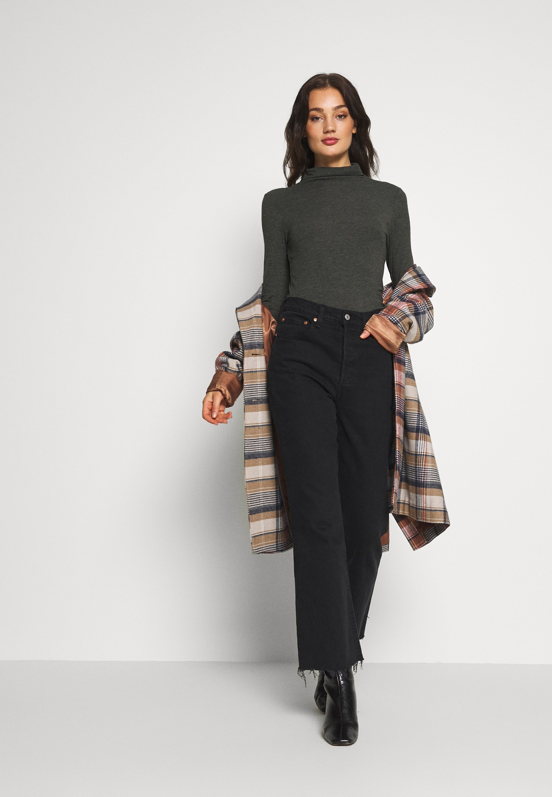 Pieces Pcjawanna Ls Mock - Long Sleeved Top Rosin