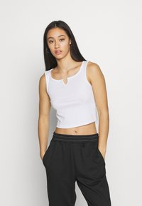 Pieces - PCPOPPY TANK 2 PACK - Topper - black/white - 2