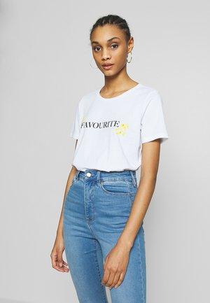 PCNIDINA - T-shirt basic - bright white