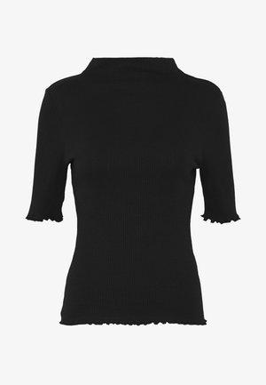 PCNUKISA MOCK NECK - T-shirt print - black