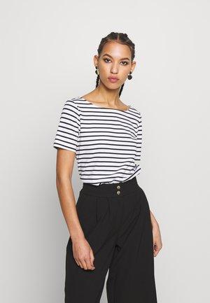 PCINGRID TOP - T-shirt imprimé - bright white/black