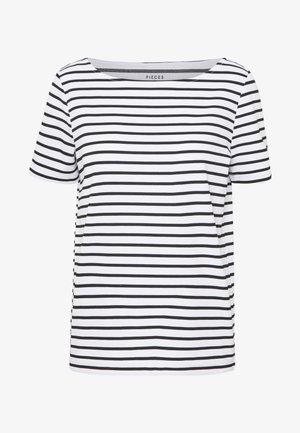 PCINGRID TOP - T-shirts med print - bright white/black