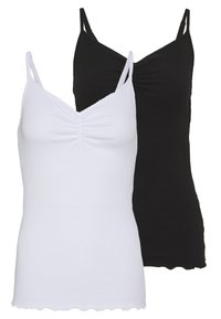 Pieces - PCARLENE STRAP 2 PACK - Top - black/white - 0