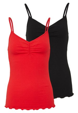 PCARLENE STRAP 2 PACK - Débardeur - black/red