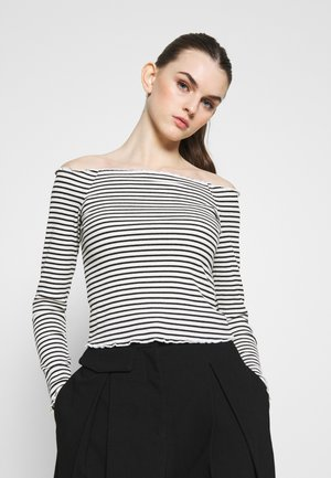 PCALICIA OFF SHOULDER  - Longsleeve - bright white/black