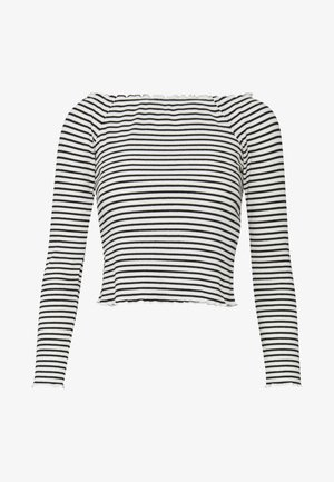 PCALICIA OFF SHOULDER  - Long sleeved top - bright white/black