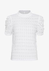 Pieces - PCCHRISTY  TOP  - T-shirt imprimé - bright white - 4