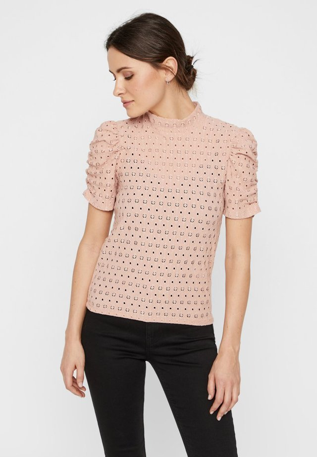 PCCHRISTY  TOP  - T-shirt print - misty rose