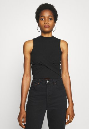 PCNADIA CROP - Top - black