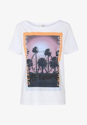 PCASALI TEE  - T-shirts med print - bright white