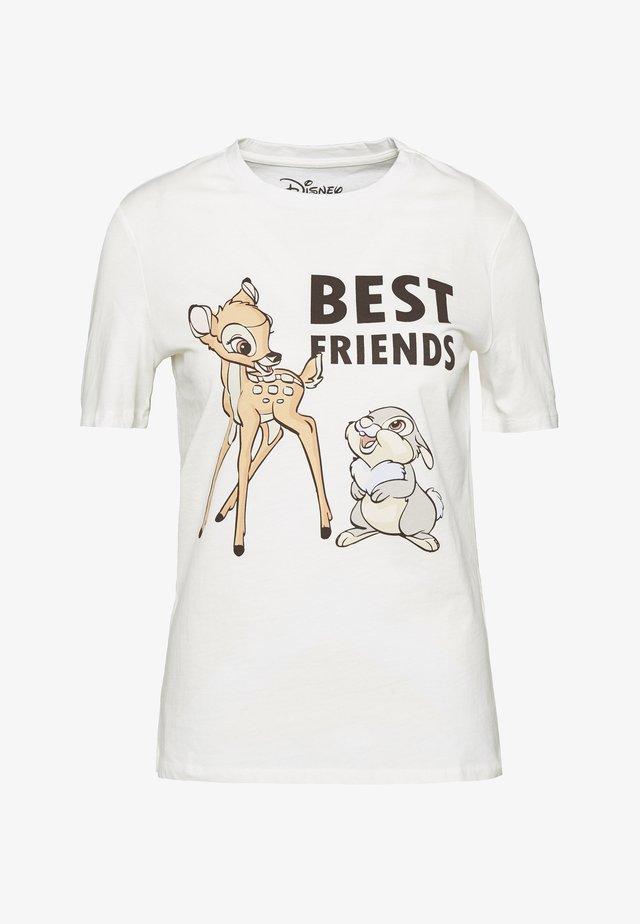 PCDISLA  - T-shirt con stampa - cloud dancer