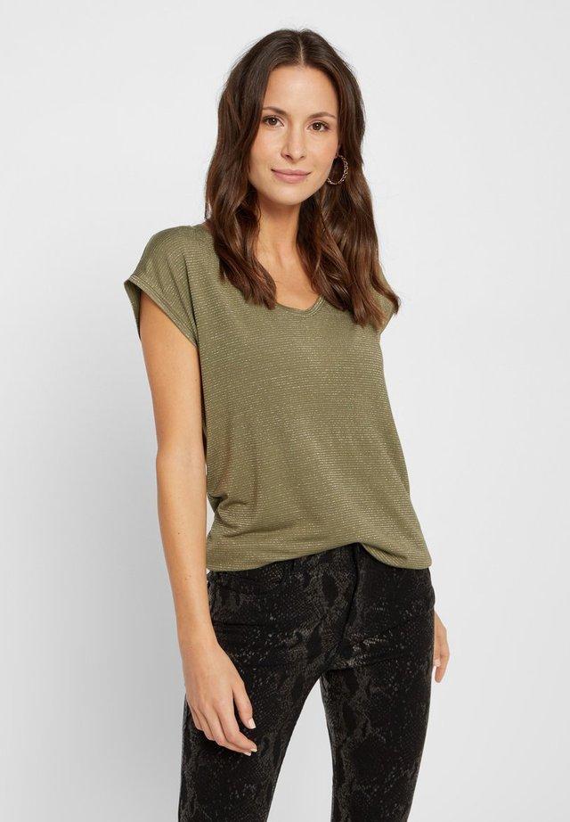 T-shirt print - deep lichen green