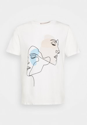 PCTETE TEE  - Print T-shirt - white