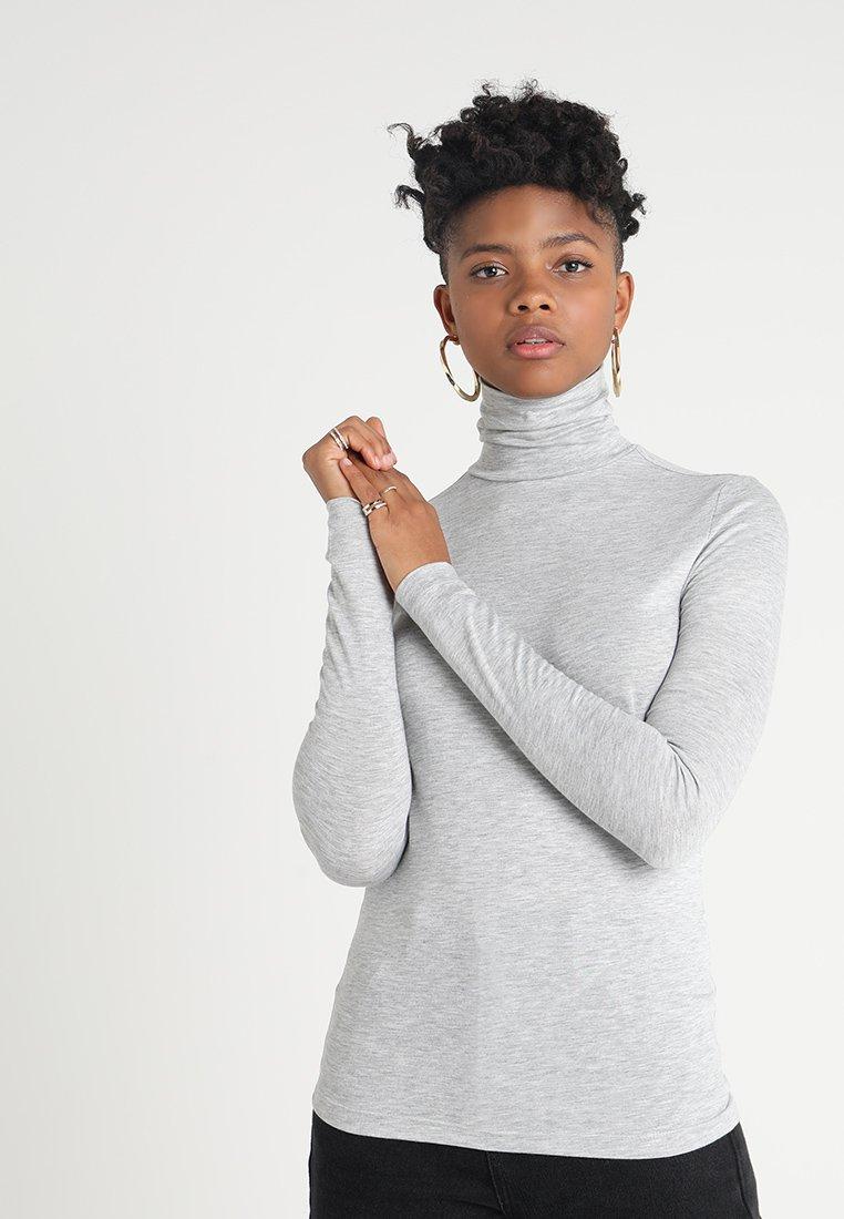Pieces - PCBILLO ROLLNECK  - Long sleeved top - light grey melange