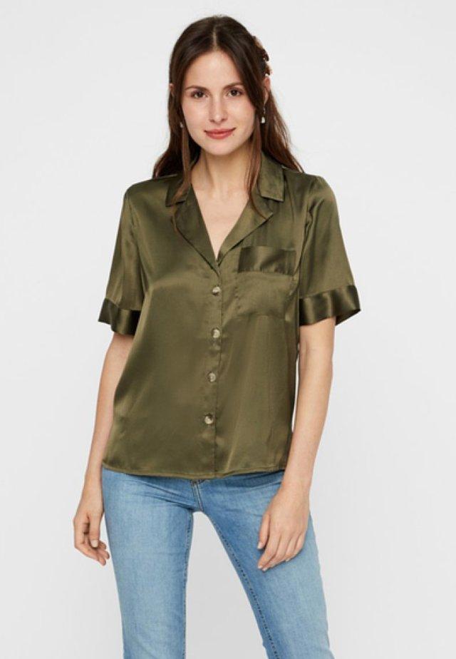 Overhemdblouse - olive