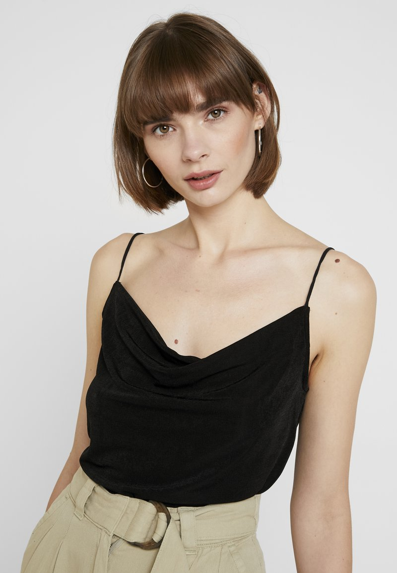 Pieces - PCMARISSA WATERFALL  - Toppe - black