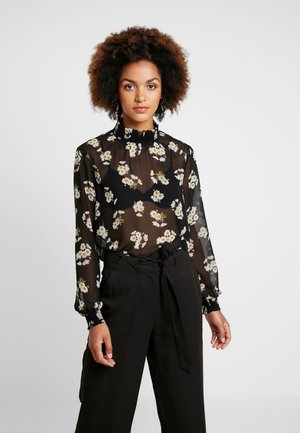 PCAMALIE - Blouse - black/small flower