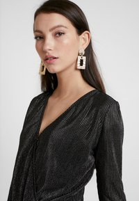 Pieces - Blouse - black/silver - 4