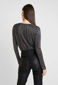Pieces - Blouse - black/silver